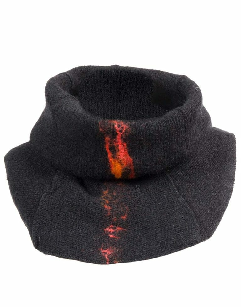 lava neck-warmer, black, gjoska.is