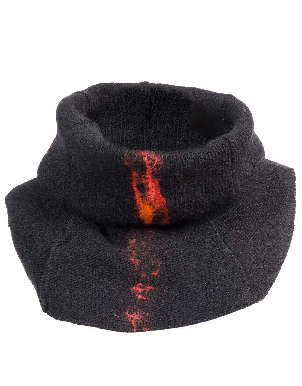 lava neck-warmer, black, gjoska.is