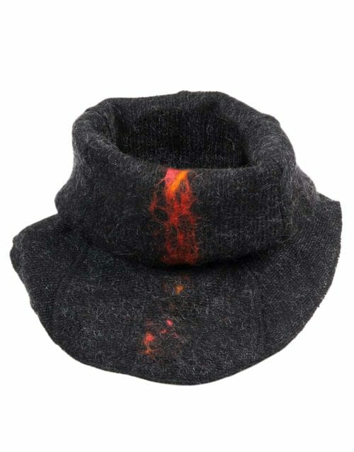 lava neck-warmer, black heather, gjoska.is