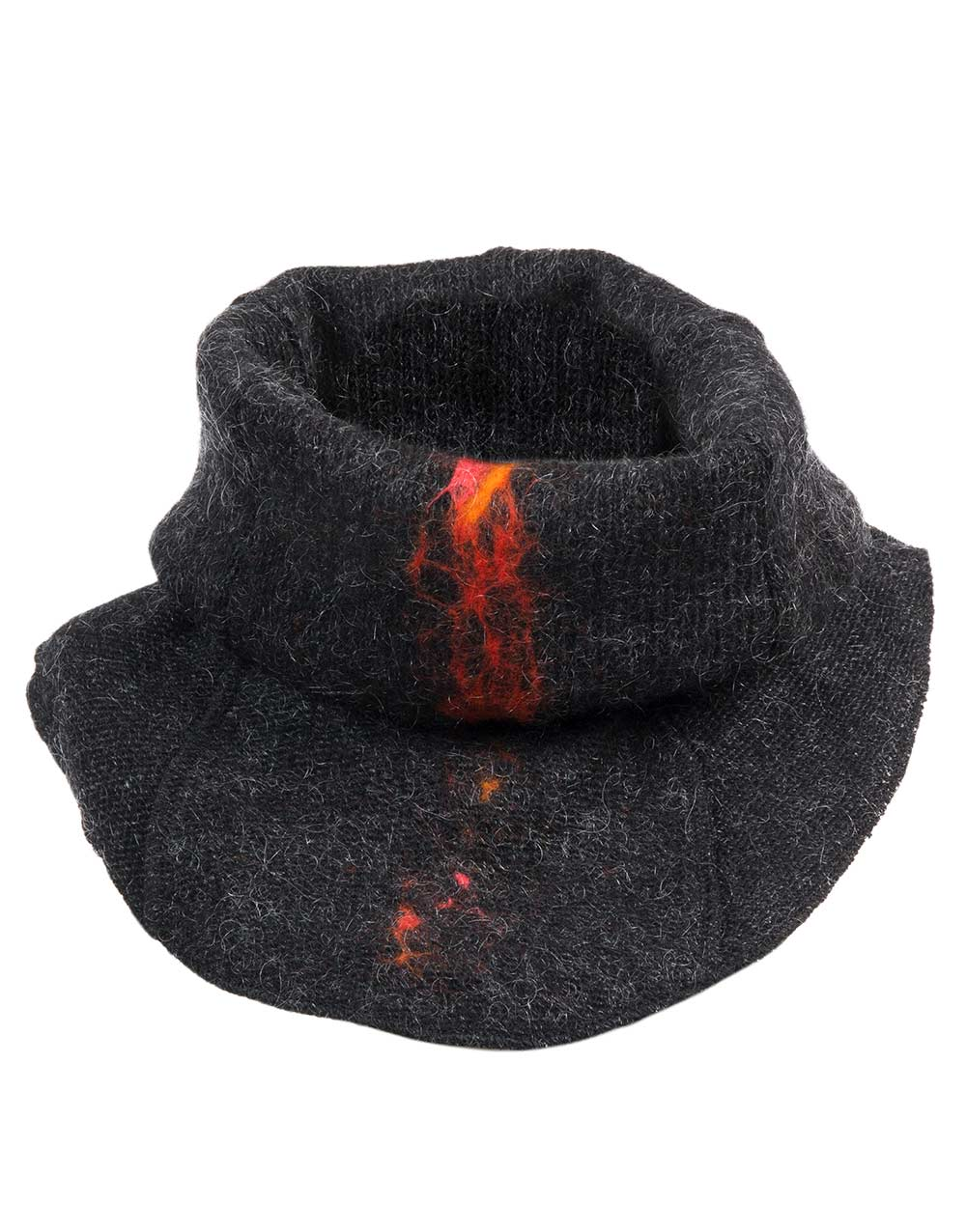 lava neck-warmer, black heather, gjoska.is