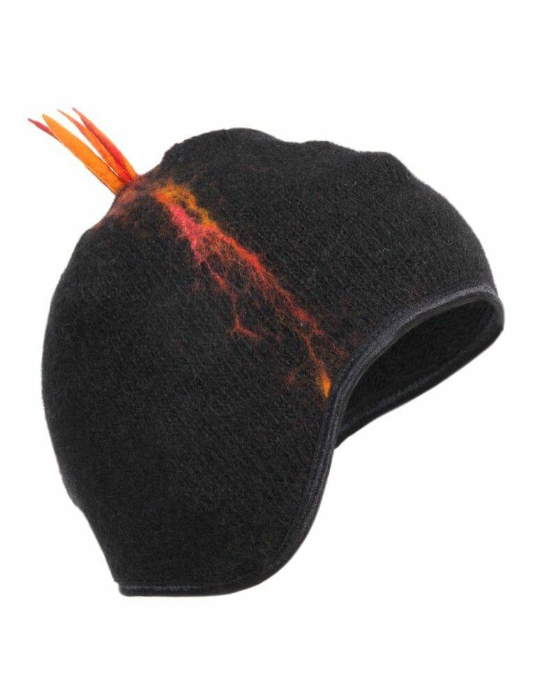 Erupting lava cap earflaps, gjoska.is