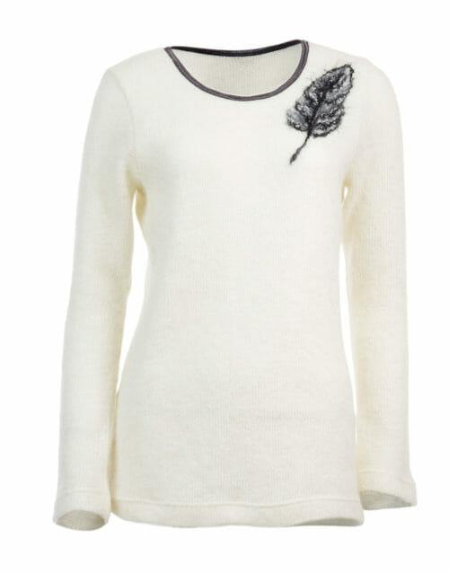 feather slim sweater, gjoska.is