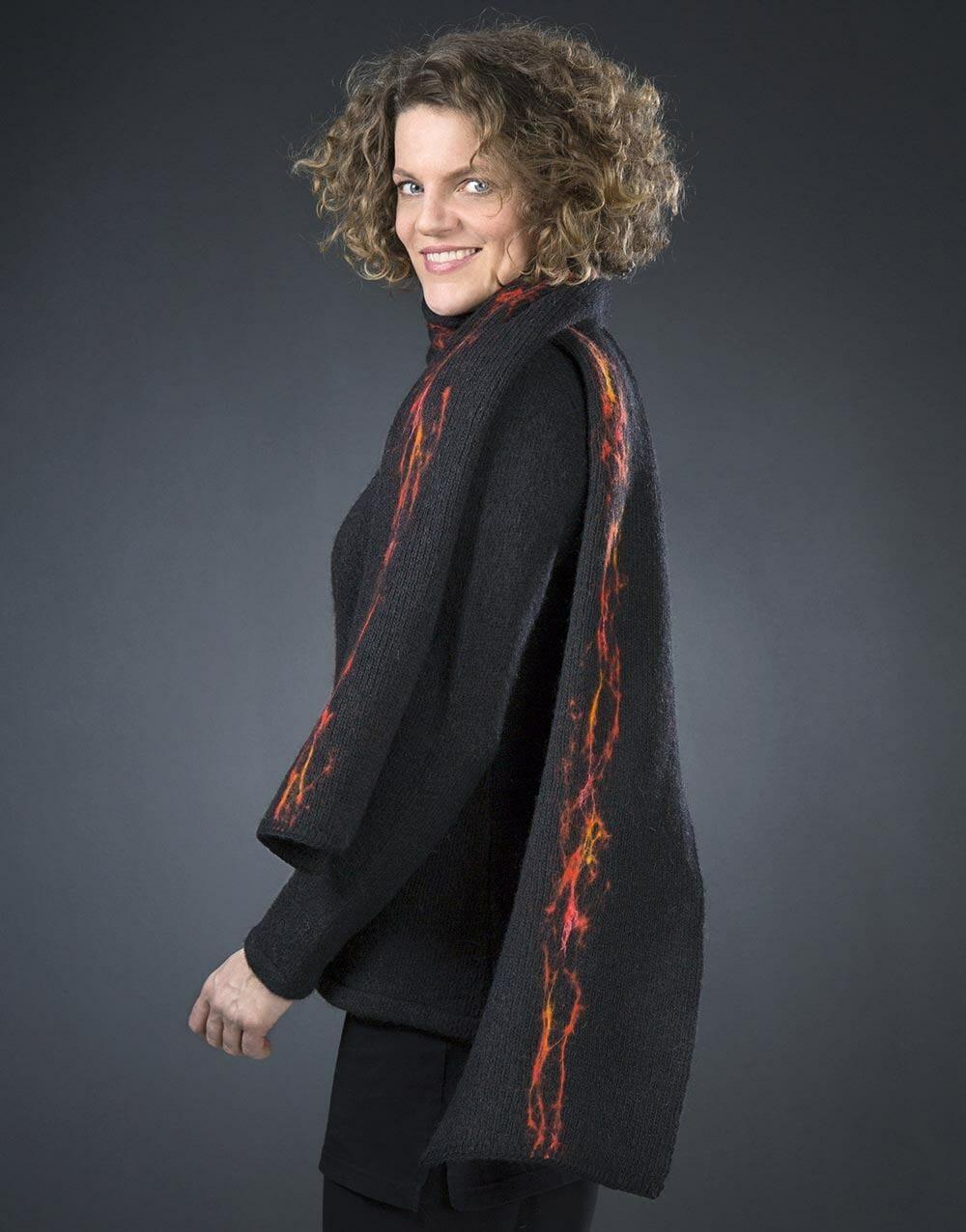 lava scarf, gjoska design