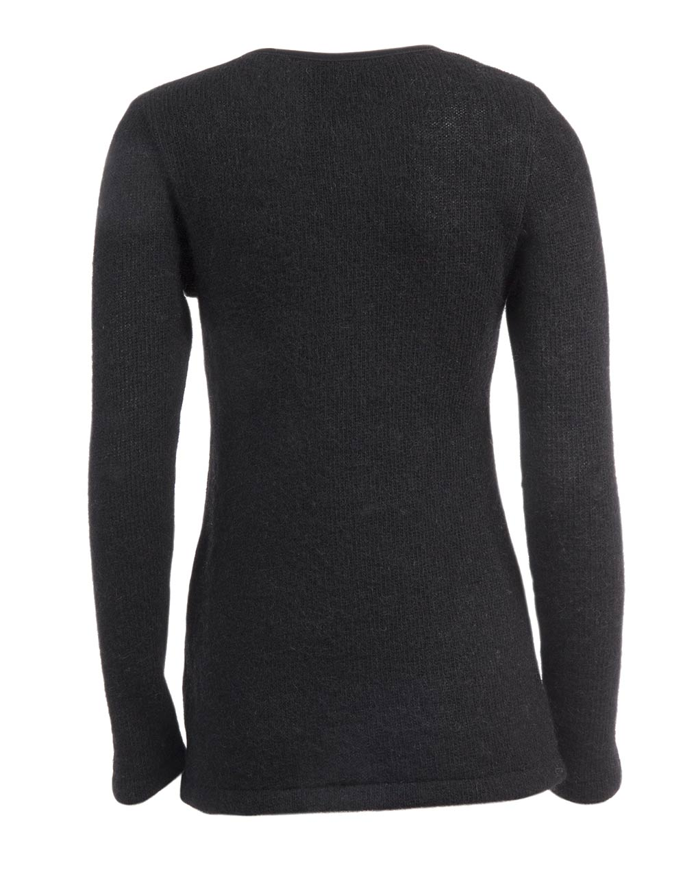 slim sweater plain back